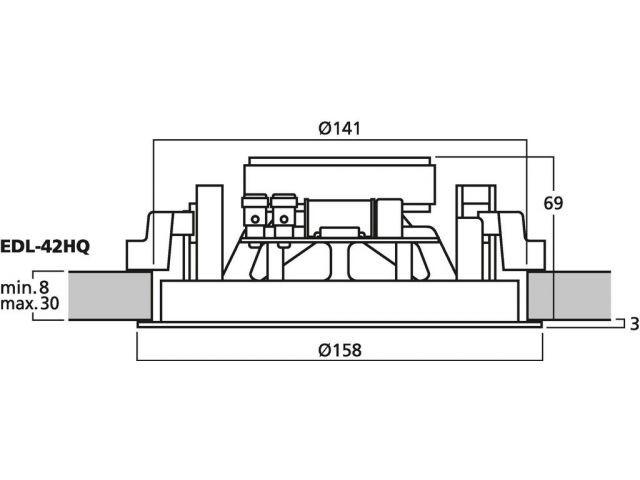 EDL-42HQ - Głośnik sufitowy HiFi i PA