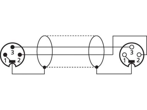 MEC-20/BL - Kabel XLR