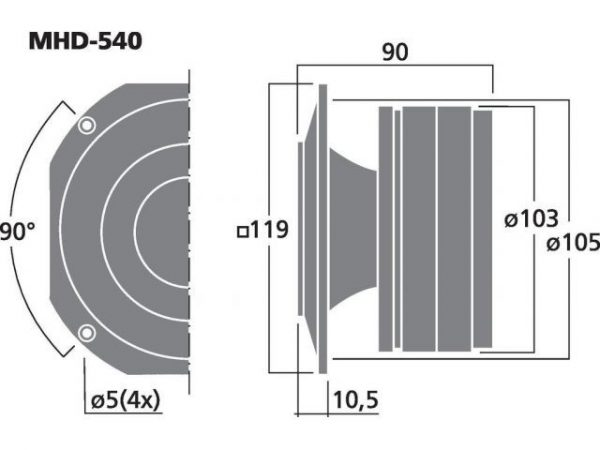 MHD-540 - Profesjonalny głośnik pierścieniowy PA