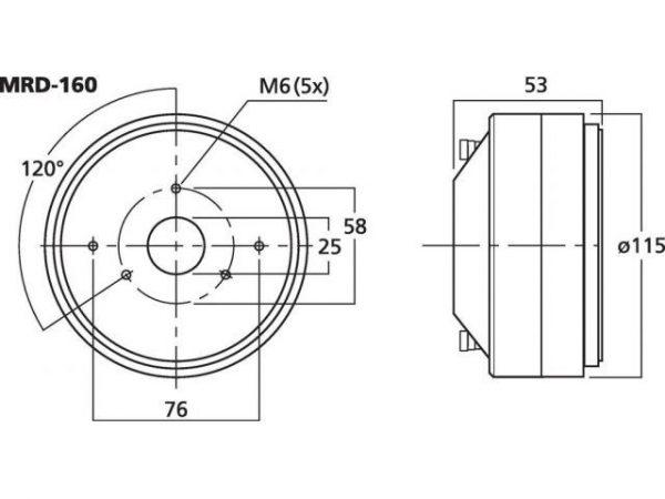 MRD-160 - Średnio-wysokotonowy driver tubowy PA