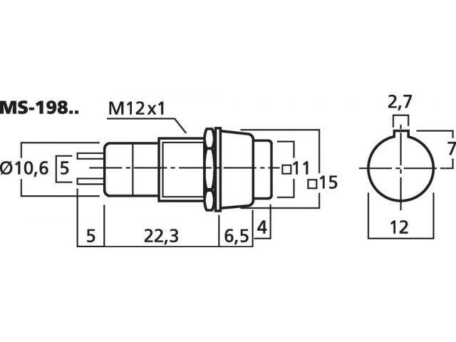 MS-198/RT - Przełącznik wciskany