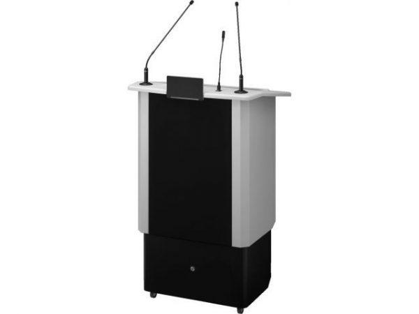 SPEECH-500/GR - Profesjonalna mównica z elektryczną regulacją wysokości i wbudowanym systemem bezprzewodowym
