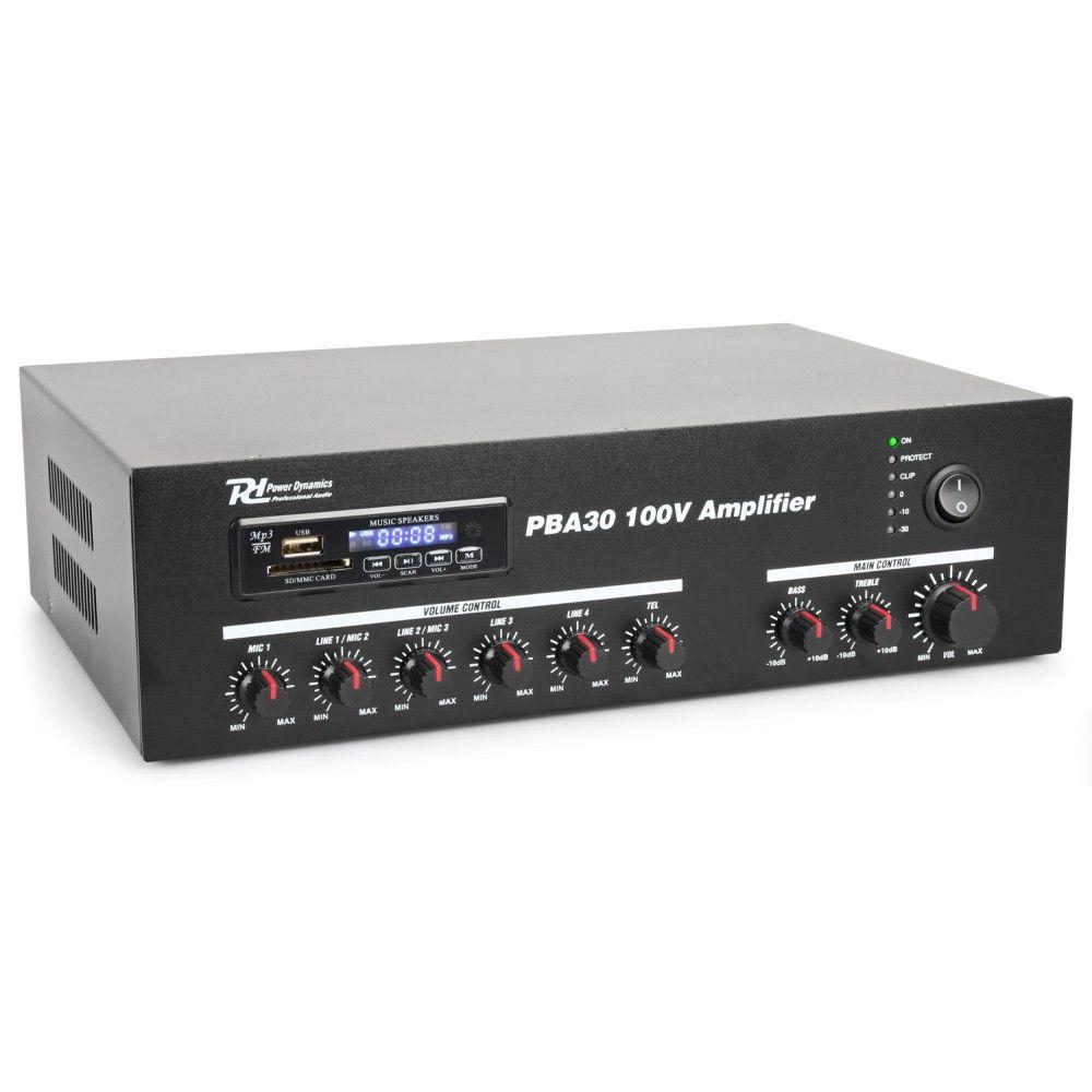 Pięciokanałowy system PA oferuje możliwość wysyłania muzyki lub komunikatów w pięciu pożądanych strefach.