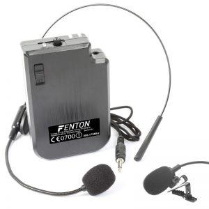 VHF Bodypack + mikrofon kołnierzykowy + mikrofon nagłowny 200.175Mhz